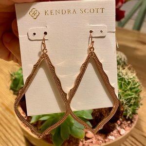 Kendra Scott Sophee Drop Earrings in Rose Gold NEW